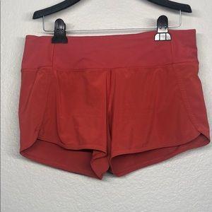 Lululemon Burnt Orange Running Shorts